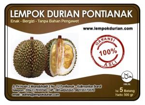 Label Lempok Durian Pontianak